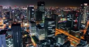 Superbe timelapse d'Osaka la nuit